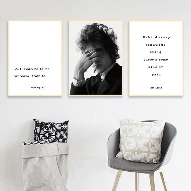 Bob Dylan Music Quote Lyrics Wall Art Prints from Gallery Wallrus | Eclectic Wall Art & Decor with Worldwide Shipping