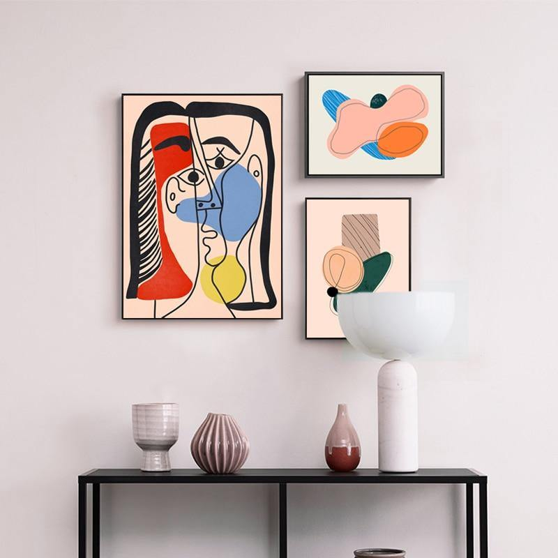 Contemporary Abstract Artwork Set from Gallery Wallrus | Eclectic Wall Art & Decor with Worldwide Shipping