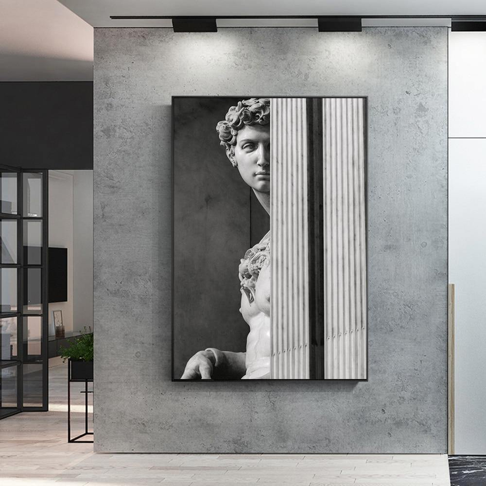 Black and White Modern Sculpture Wall Art Picture from Gallery Wallrus | Eclectic Wall Art & Decor with Worldwide Shipping