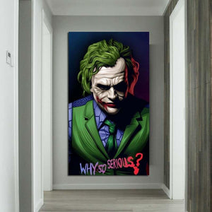 Abstract Joker - Why So Serious Art Print from Gallery Wallrus | Eclectic Wall Art & Decor with Worldwide Shipping