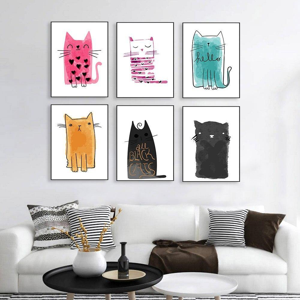 Kawaii Cat Gallery Wall Mix & Match from Gallery Wallrus | Eclectic Wall Art & Decor with Worldwide Shipping
