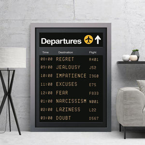 Emotions Departure Schedule Art Picture from Gallery Wallrus | Eclectic Wall Art & Decor with Worldwide Shipping