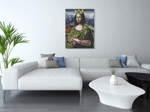 Funky Mona Lisa Wall Art from Gallery Wallrus | Eclectic Wall Art & Decor with Worldwide Shipping