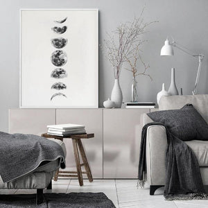 Moon Phases Black & White Art Prints from Gallery Wallrus | Eclectic Wall Art & Decor with Worldwide Shipping