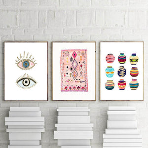 Cute Boho Moroccan Art Paintings Gallery Wall Mix & Match Prints from Gallery Wallrus | Eclectic Wall Art & Decor with Worldwide Shipping