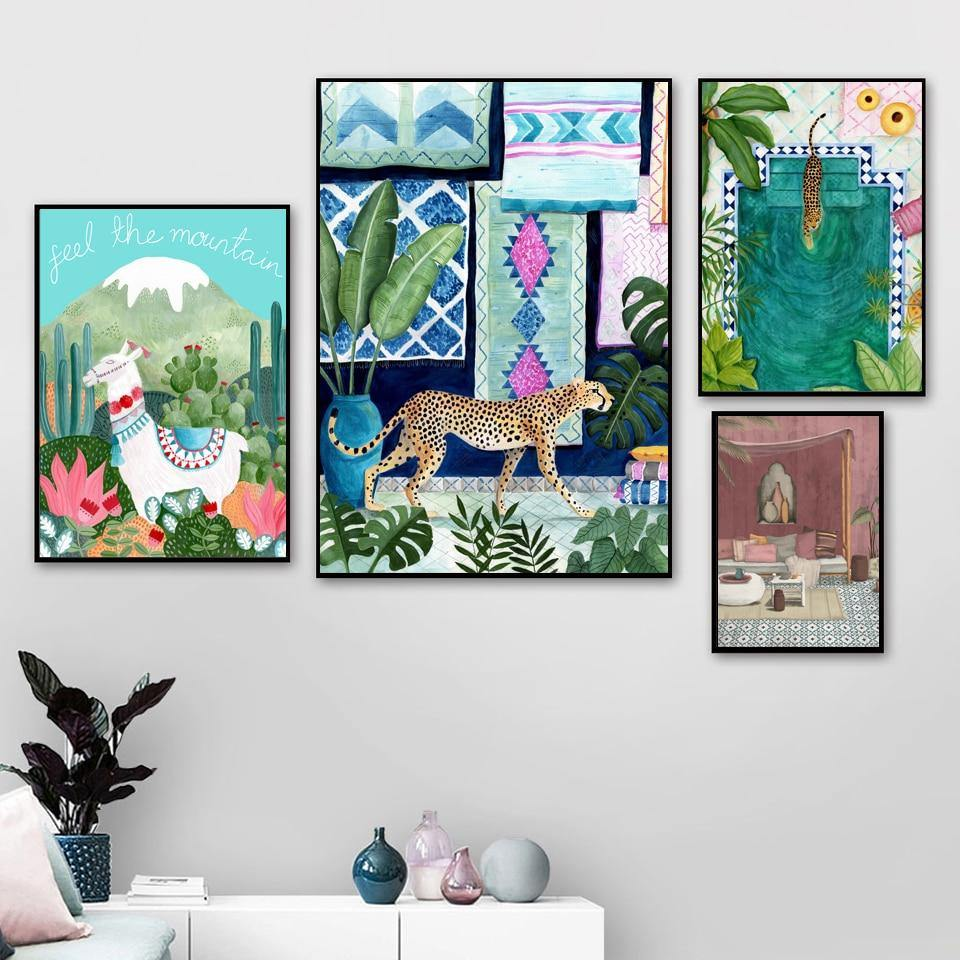 Colorful Tropical Morocco Wall Art Prints from Gallery Wallrus | Eclectic Wall Art & Decor with Worldwide Shipping