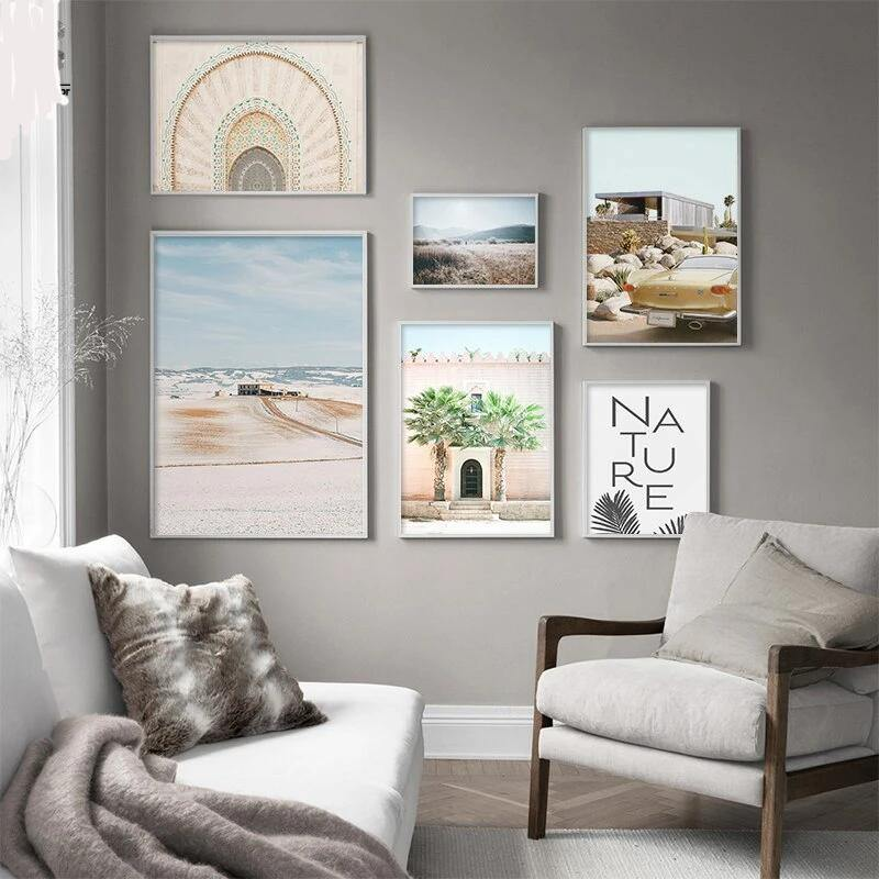 Neutral Tones Mixed Designs Gallery Wall Art Prints from Gallery Wallrus | Eclectic Wall Art & Decor with Worldwide Shipping
