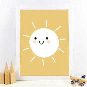 Cute Mustard Color Sunshine Nursery Room Art Picture from Gallery Wallrus | Eclectic Wall Art & Decor with Worldwide Shipping