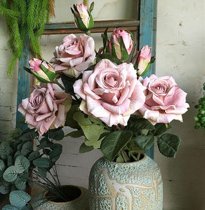 Vintage Rose Artificial Flower Decor (Various Colors) from Gallery Wallrus | Eclectic Wall Art & Decor with Worldwide Shipping