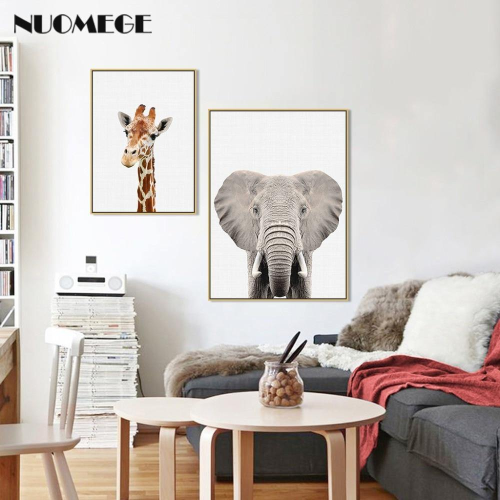 NUOMEGE Baby Animal Poster Panda Giraffe Elephant Canvas Painting Nursery Wall Art Nordic Picture Kids Room Decoration 1 from Gallery Wallrus | Eclectic Wall Art & Decor with Worldwide Shipping