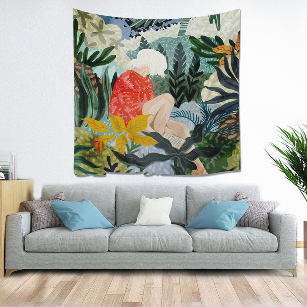 Bohemian Forest Girls Tapestry Collection from Gallery Wallrus | Eclectic Wall Art & Decor with Worldwide Shipping