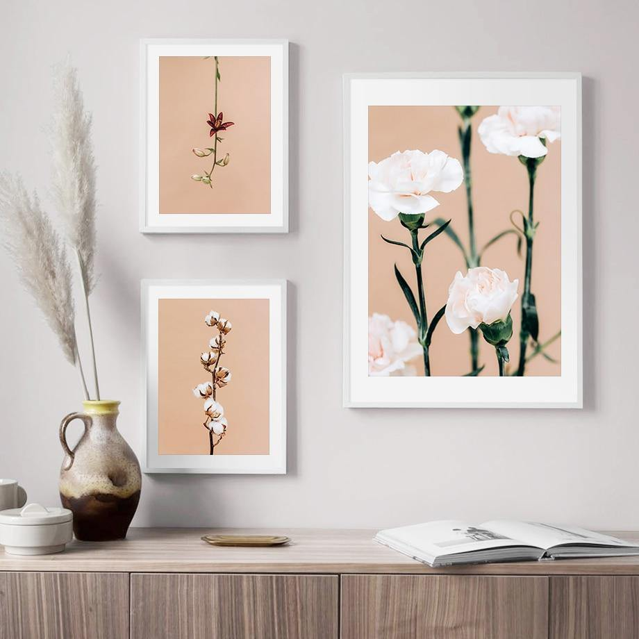 Pink & White Floral Gallery Wall Art Prints from Gallery Wallrus | Eclectic Wall Art & Decor with Worldwide Shipping