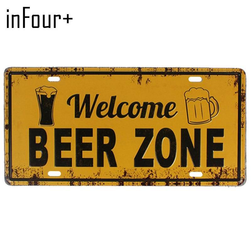 Alcohol Metal Wall Signs from Gallery Wallrus | Eclectic Wall Art & Decor with Worldwide Shipping
