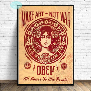 Twist on Make Art Not War Pop Art Selection of Prints Mix & Match from Gallery Wallrus | Eclectic Wall Art & Decor with Worldwide Shipping