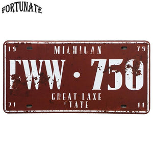 American Vintage Licence Plate Metal Wall Signs from Gallery Wallrus | Eclectic Wall Art & Decor with Worldwide Shipping