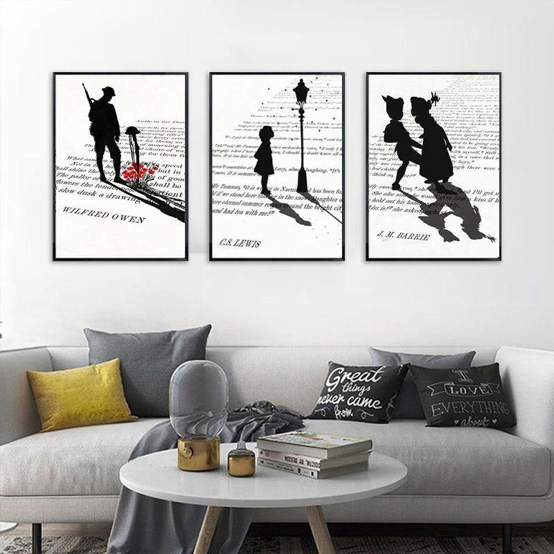 Minimalist Shadows On The Book Art Pictures from Gallery Wallrus | Eclectic Wall Art & Decor with Worldwide Shipping