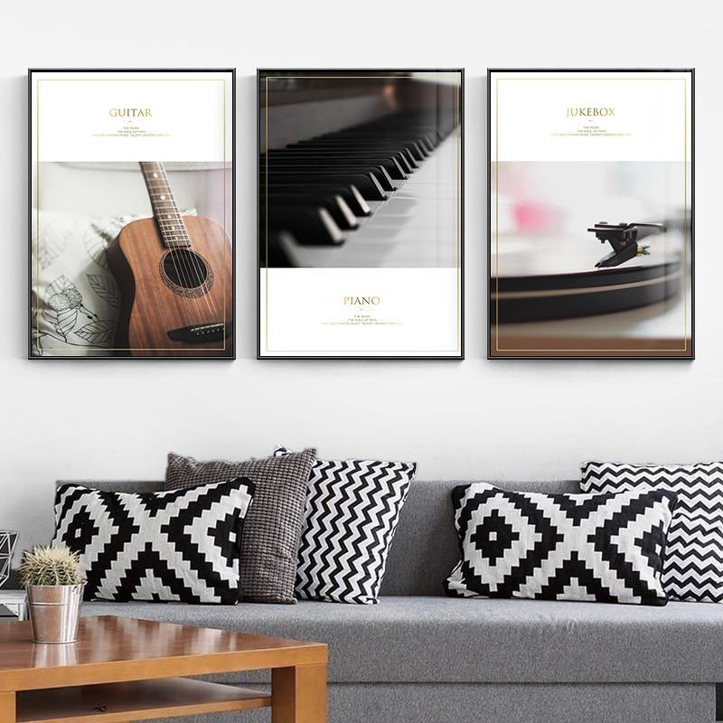 The Keys of Guitar & Piano Art Pictures from Gallery Wallrus | Eclectic Wall Art & Decor with Worldwide Shipping