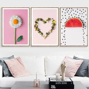 Nordic Eggs Breakfast Modern Home Decoration Flower Watermelon Fruit Canvas Painting Wall Art Picture Kitchen Posters No Frame from Gallery Wallrus | Eclectic Wall Art & Decor with Worldwide Shipping