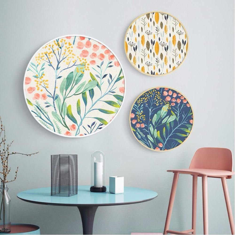 Floral Circle Wall Decor Prints from Gallery Wallrus | Eclectic Wall Art & Decor with Worldwide Shipping