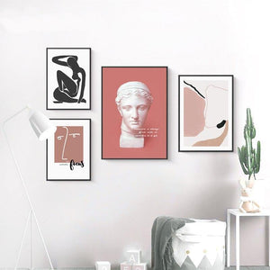 Pink and Dark Tones Gallery Wall Mix & Match Artwork from Gallery Wallrus | Eclectic Wall Art & Decor with Worldwide Shipping
