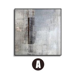 Grey Abstract Minimalist Square Gallery Wall Art Prints from Gallery Wallrus | Eclectic Wall Art & Decor with Worldwide Shipping