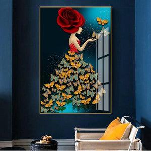 Eclectic Lady Butterfly Wall Art Print from Gallery Wallrus | Eclectic Wall Art & Decor with Worldwide Shipping