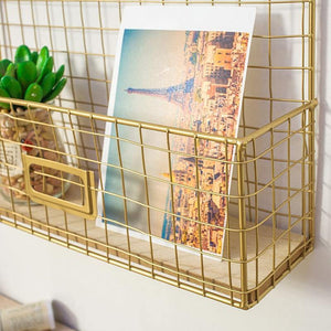 Gold Message Board Storage from Gallery Wallrus | Eclectic Wall Art & Decor with Worldwide Shipping