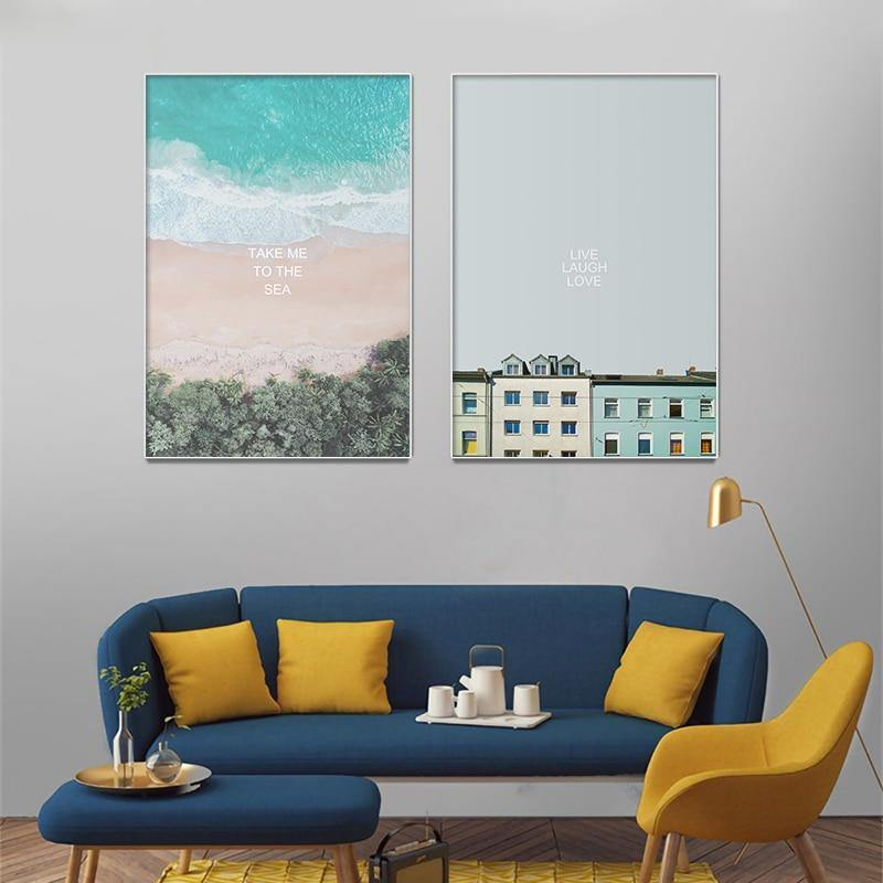 House Beach Regina Nordic Gallery Wall Art Mix & Match from Gallery Wallrus | Eclectic Wall Art & Decor with Worldwide Shipping