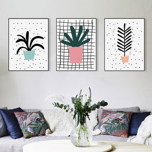 Cute Pot Plant Gallery Wall from Gallery Wallrus | Eclectic Wall Art & Decor with Worldwide Shipping