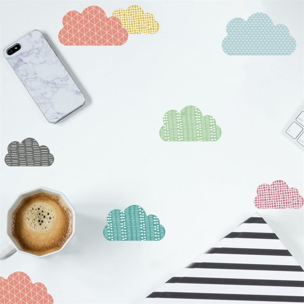 Cute Colors Clouds Kids Wall Stickers from Gallery Wallrus | Eclectic Wall Art & Decor with Worldwide Shipping