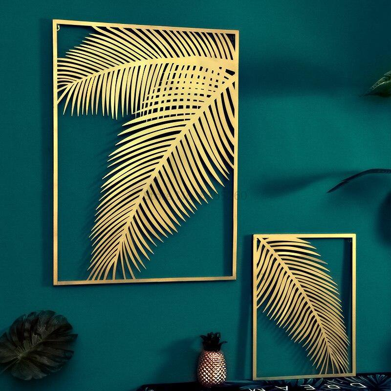 Gold Metal Leaf Wall Hanging Decor Collection from Gallery Wallrus | Eclectic Wall Art & Decor with Worldwide Shipping