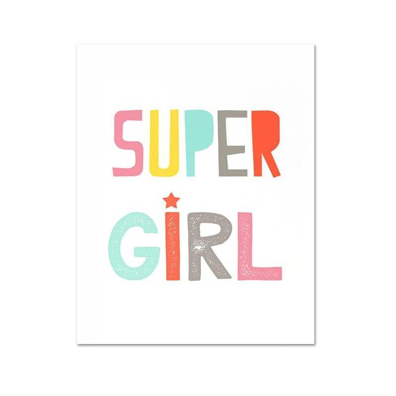 Super Girl Bedroom Art Prints Gallery Wall Pictures from Gallery Wallrus | Eclectic Wall Art & Decor with Worldwide Shipping