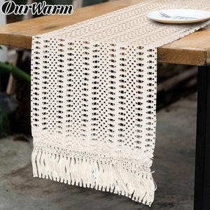 Long Crochet Boho Table Runner from Gallery Wallrus | Eclectic Wall Art & Decor with Worldwide Shipping