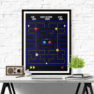 Retro Pac Man Video Game Wall Art Print from Gallery Wallrus | Eclectic Wall Art & Decor with Worldwide Shipping