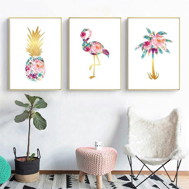 Palm Pineapple Flamingo Modern Art Colorful Gallery Wall Prints from Gallery Wallrus | Eclectic Wall Art & Decor with Worldwide Shipping