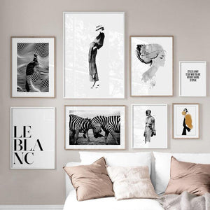 Paris Fashion Zebra Prints Mix & Match Gallery Wall Art Pictures from Gallery Wallrus | Eclectic Wall Art & Decor with Worldwide Shipping