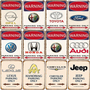 Car Brand No Parking Signs