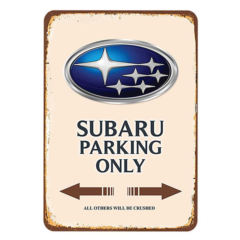 Car Brand No Parking Signs from Gallery Wallrus | Eclectic Wall Art & Decor with Worldwide Shipping