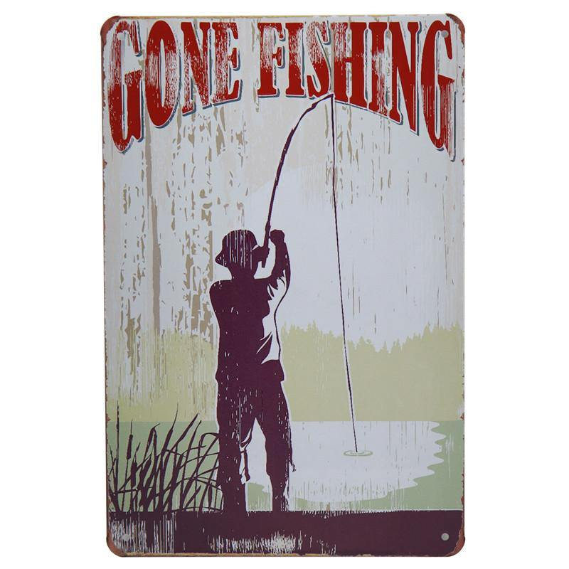 Vintage Fishing Wall Art Signs Mix & Match from Gallery Wallrus | Eclectic Wall Art & Decor with Worldwide Shipping