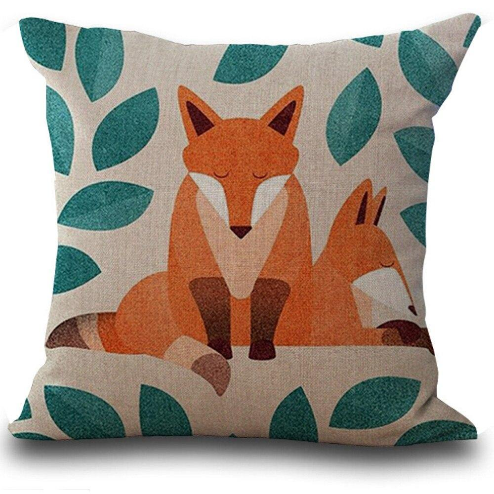 Kids Fox Print Pillow Cases from Gallery Wallrus | Eclectic Wall Art & Decor with Worldwide Shipping