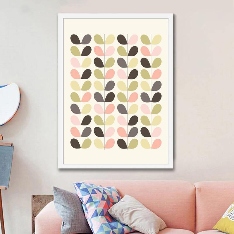 Minimalist Pastel Leaves Wall Art Picture from Gallery Wallrus | Eclectic Wall Art & Decor with Worldwide Shipping