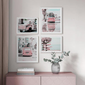 Pink Van and Surf Pictures Mix & Match from Gallery Wallrus | Eclectic Wall Art & Decor with Worldwide Shipping