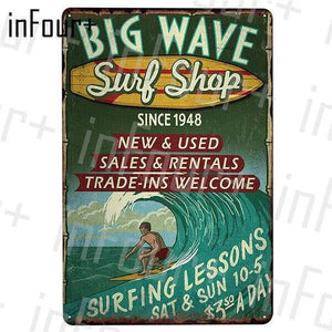 Retro Vintage Surf Wall Art Display Signs Mix & Match from Gallery Wallrus | Eclectic Wall Art & Decor with Worldwide Shipping