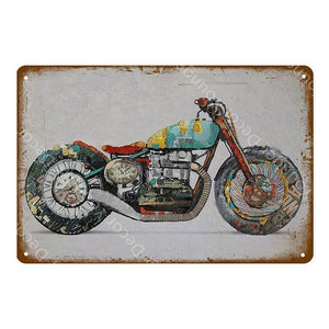 Classic Vintage Motorbike / Motorcycle Wall Art Metal Signs Mix & Match from Gallery Wallrus | Eclectic Wall Art & Decor with Worldwide Shipping