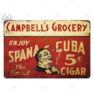 Vintage Retro Cigar Wall Art Signs (Mix & Match) from Gallery Wallrus | Eclectic Wall Art & Decor with Worldwide Shipping