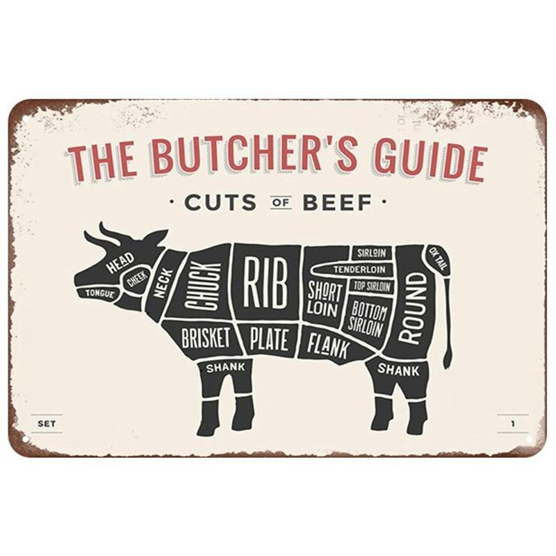 Butchers Meat, Fish and Knife Vintage Wall Art Signs Mix & Match from Gallery Wallrus | Eclectic Wall Art & Decor with Worldwide Shipping