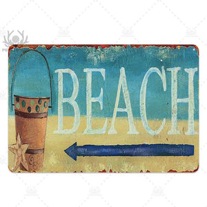 Retro Beach and Surf Summer Metal Wall Plaques (Mix & Match) from Gallery Wallrus | Eclectic Wall Art & Decor with Worldwide Shipping