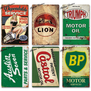 Garage Brand Wall Plaques from Gallery Wallrus | Eclectic Wall Art & Decor with Worldwide Shipping