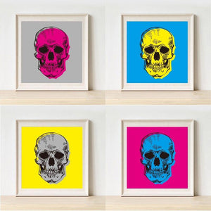 Bright Funky Pop Art Skull Gallery Wall Art Prints from Gallery Wallrus | Eclectic Wall Art & Decor with Worldwide Shipping
