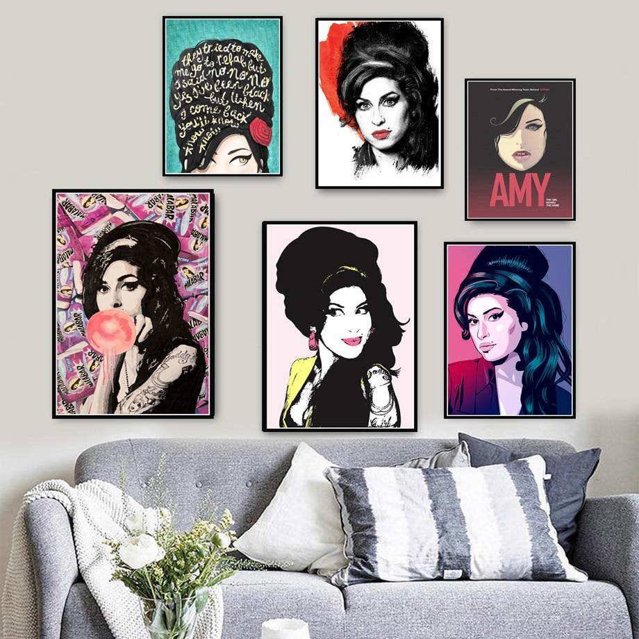 Cool Amy Winehouse Gallery Wall Paintings 2 from Gallery Wallrus | Eclectic Wall Art & Decor with Worldwide Shipping